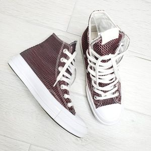 •CONVERSE• Unisex Woven High Top Sneakers.